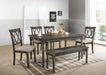Claudia II Weathered Gray Dining Table image