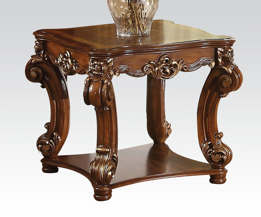 Acme Vendome Square End Table in Cherry 82001 image