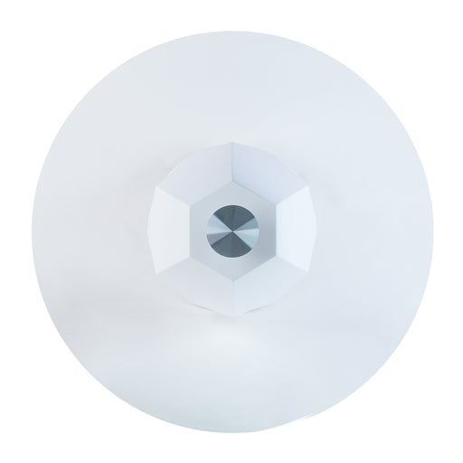 Chara White High Gloss & Clear Glass End Table image