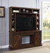 Aksel Walnut Entertainment Center w/Fireplace image
