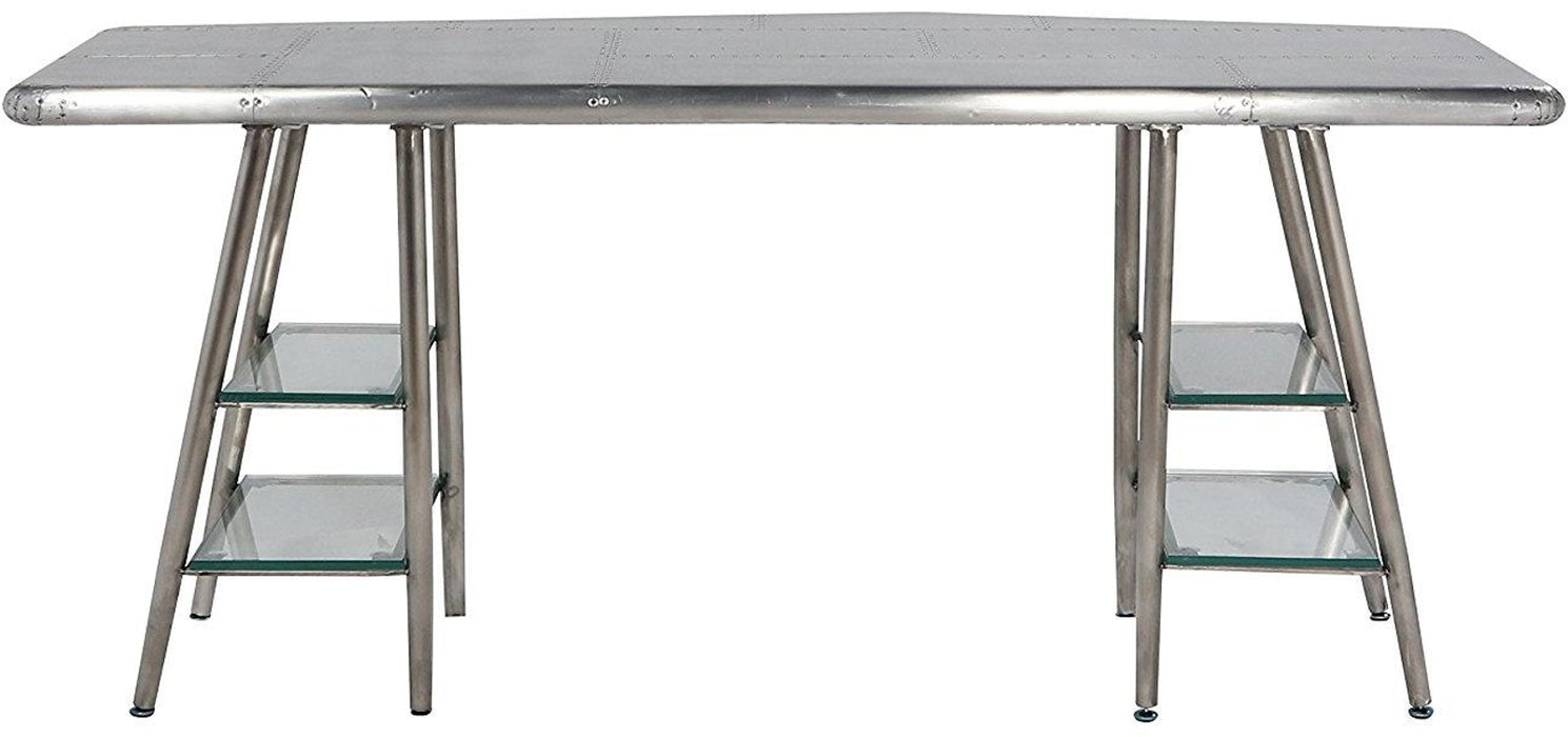 Acme Furniture Brancaster Desk in Aluminum 92790 image