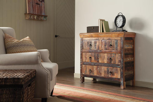 Transitional Reclaimed Wood Accent Cabinet image