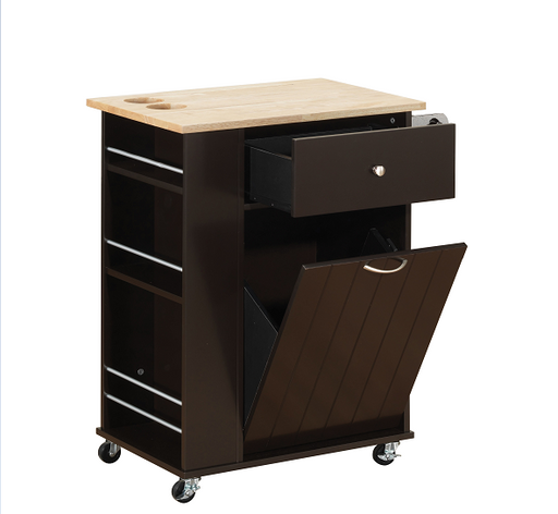 Zina Natural & Wenge Kitchen Cart image
