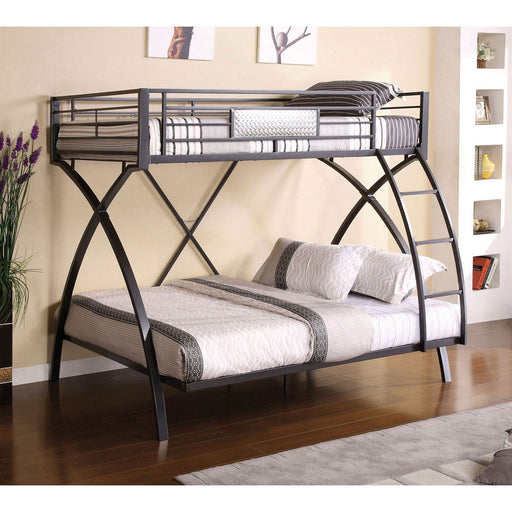 Apollo Gun Metal/Chrome Twin/Full Bunk Bed image