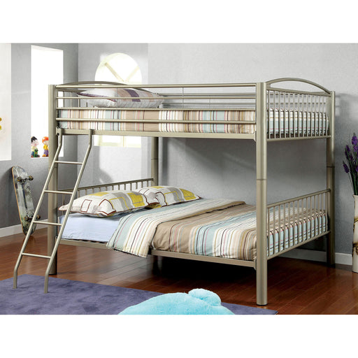 Lovia Metallic Gold Full/Full Bunk Bed image