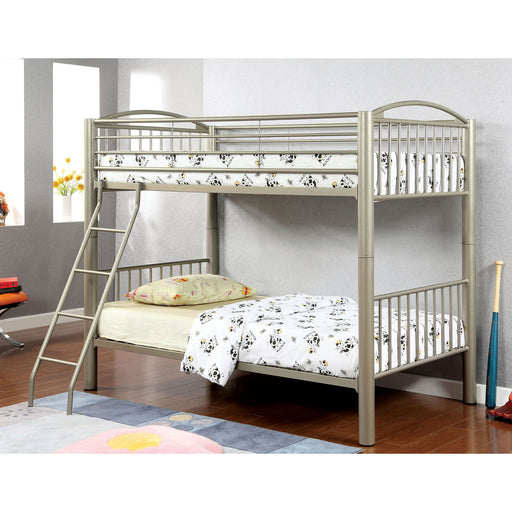 Lovia Metallic Gold Twin/Twin Bunk Bed image