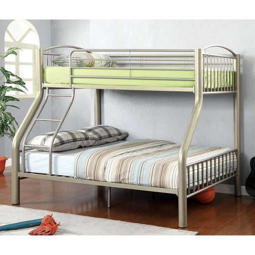 Lovia Metallic Gold Twin/Full Bunk Bed image
