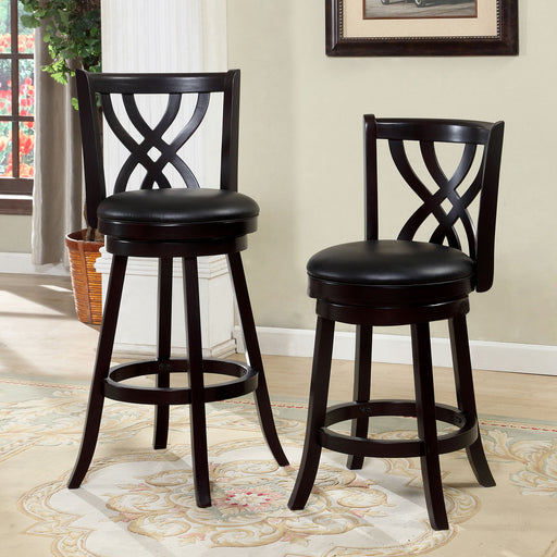 "WENDEL Espresso 24"" Swivel Bar Stool image"