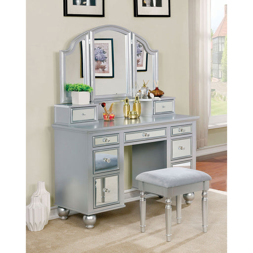 TRACY Silver Vanity w/ Stool image