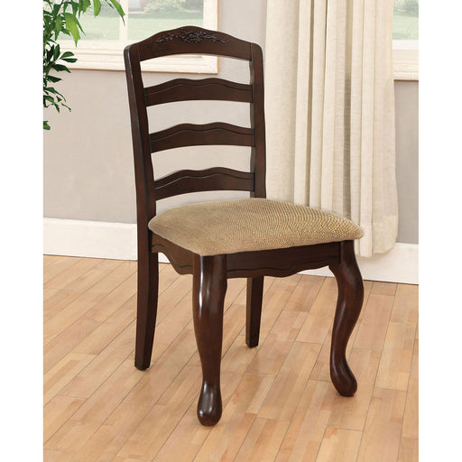 Townsville Dark Walnut/Tan Side Chair (2/CTN) image