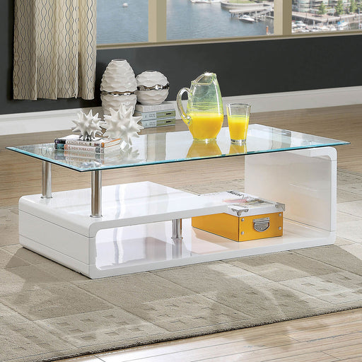 Torkel White/Chrome Coffee Table image