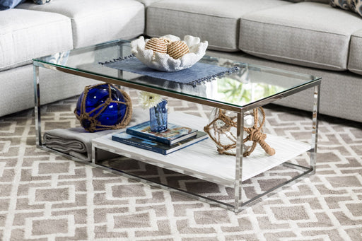 VENDI White/Chrome Coffee Table image