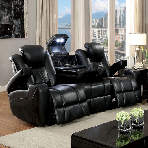 ZAURAK Dark Gray Sofa w/ 2 Recliners image