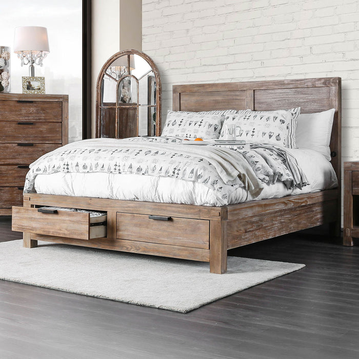 Wynton Weathered Light Oak Cal.King Bed image
