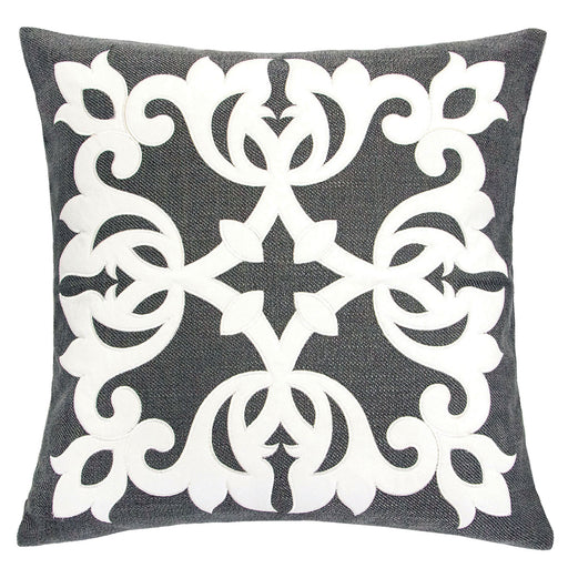 "Trudy Gray 20"" X 20"" Pillow, Gray image"