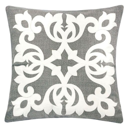 "Trudy Silver 20"" X 20"" Pillow, Silver image"