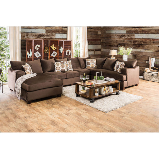 WESSINGTON Chocolate U-Shaped Sectional image