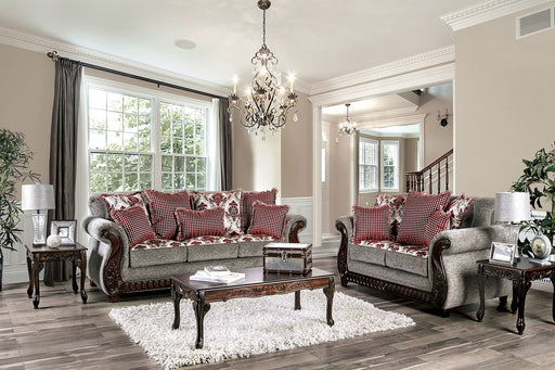 Whitland Light Gray/Red Sofa + Love Seat image