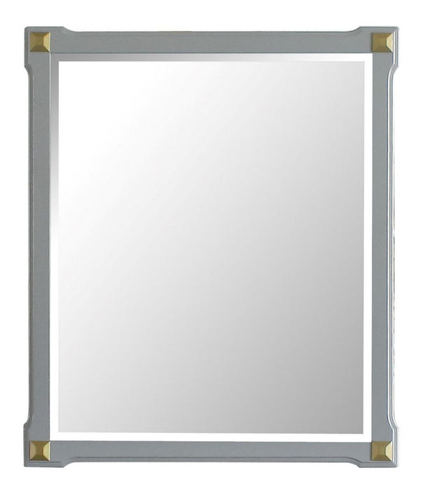 Acme Furniture House Marchese Mirror in Pearl Gray 28864 image