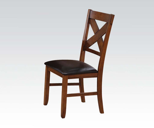 Acme Apollo X-Back Side Chair (Set of 2) in Walnut 70003 image