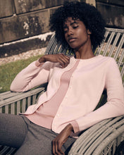 Load image into Gallery viewer, Round Neck Cashmere Cardigan Pale Pink