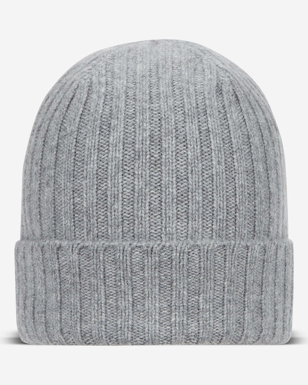 Chunky Ribbed Cashmere Hat Flannel Grey