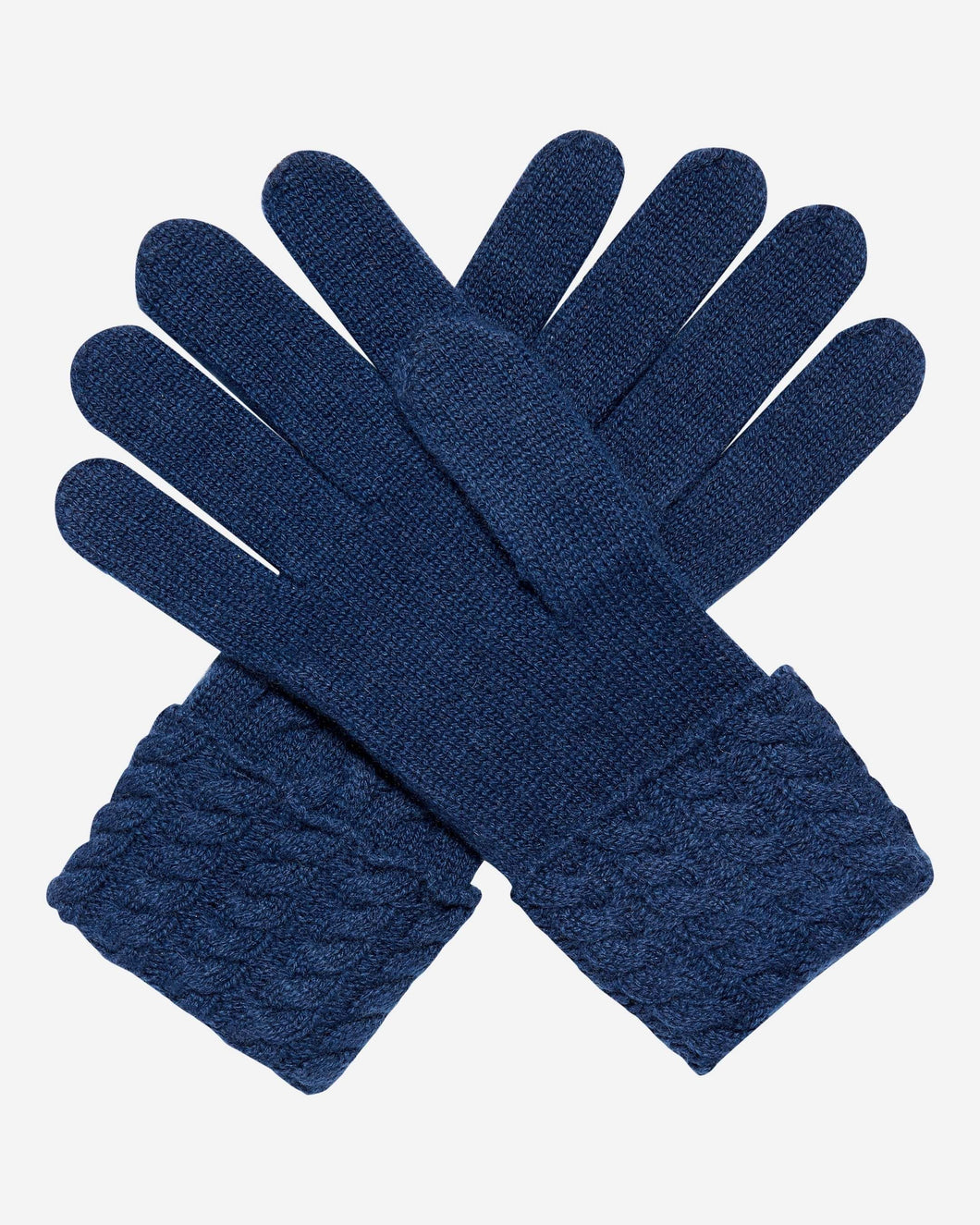 Cable Cashmere Gloves Atlantis Blue