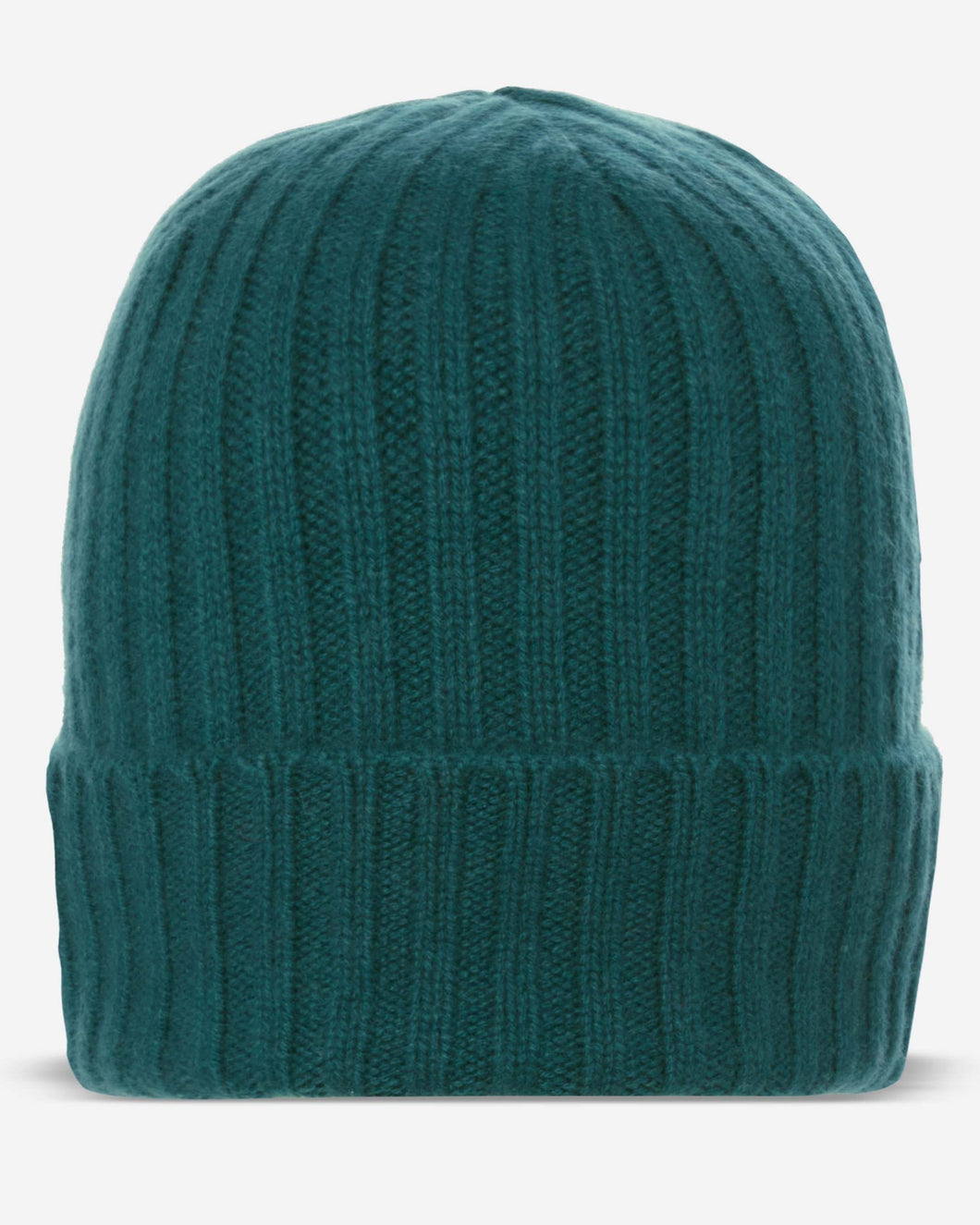 Chunky Ribbed Cashmere Hat Galactic Green