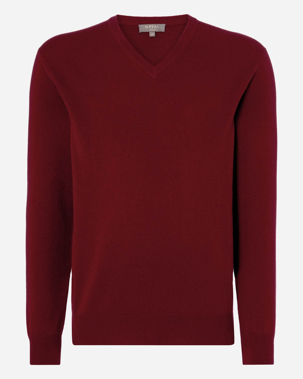 The Burlington V Neck Cashmere Sweater Enriched Red