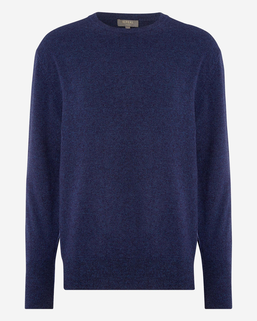 The Oxford Round Neck 1ply Cashmere Sweater Imperial Blue