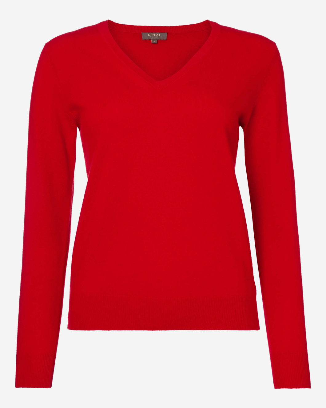 V Neck Cashmere Sweater Red