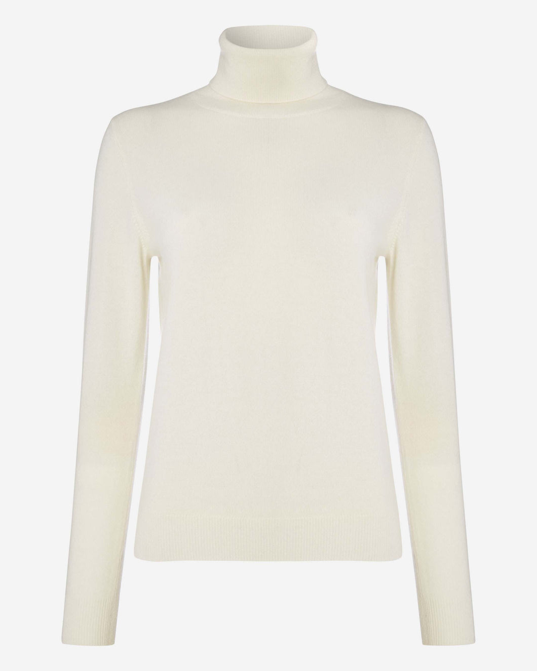 Polo Neck Cashmere Jumper New Ivory White