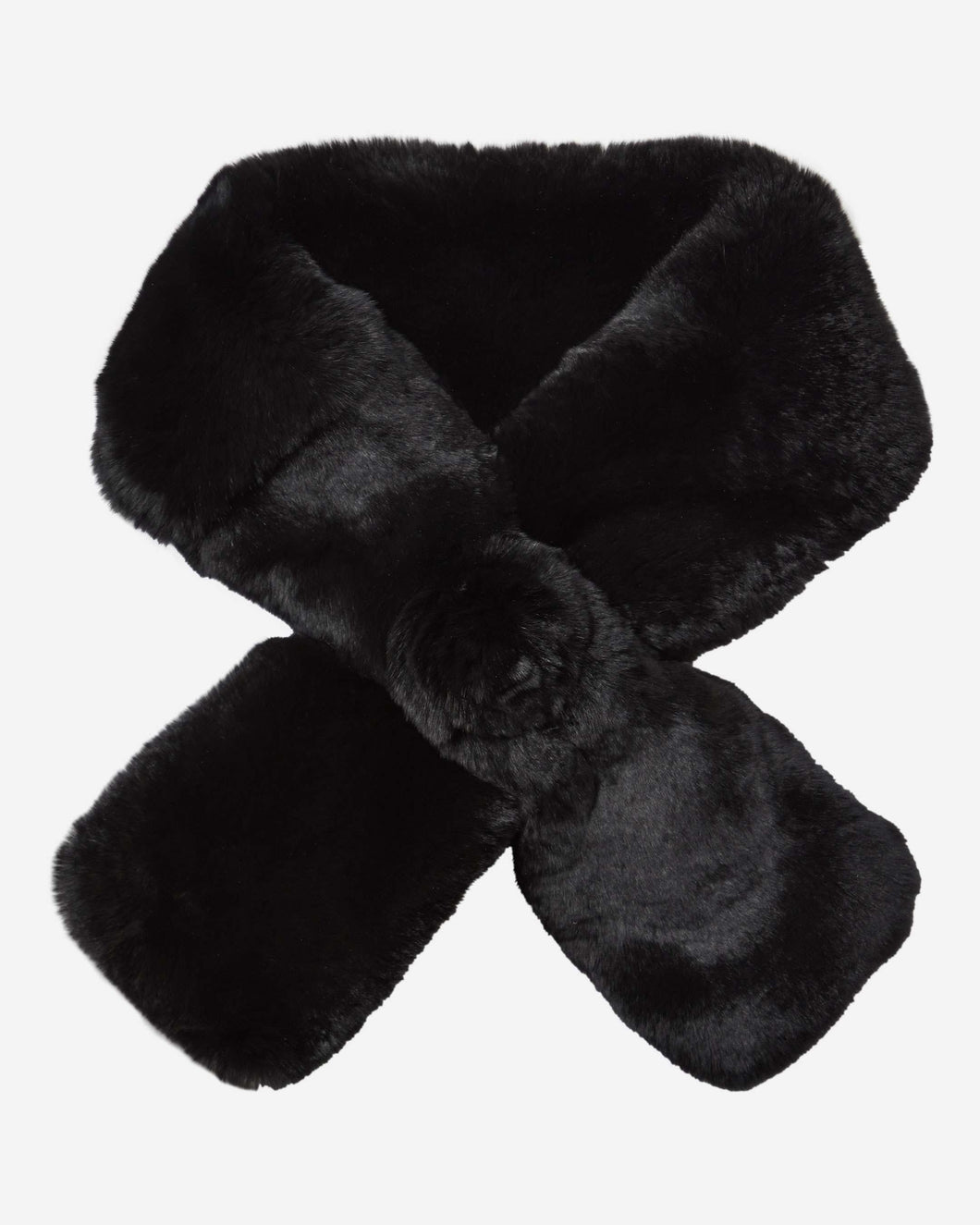 Fur Neck Warmer Black Fur