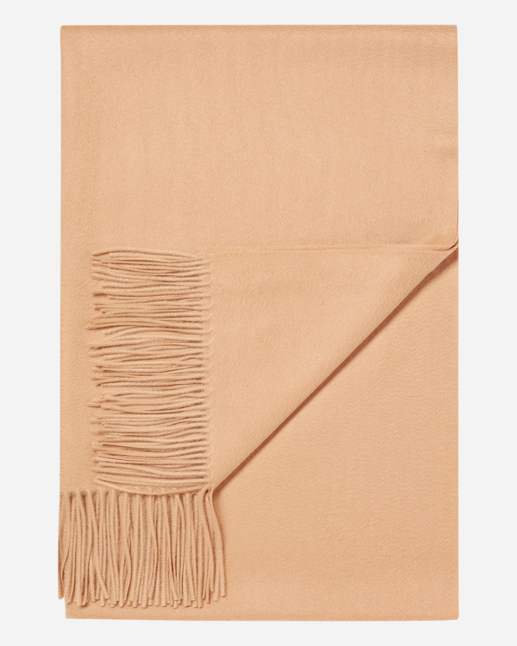 Woven Cashmere Shawl Camel Brown