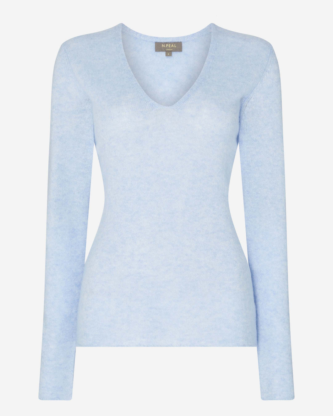 Gauzy V Neck Sweater Cornflower Blue