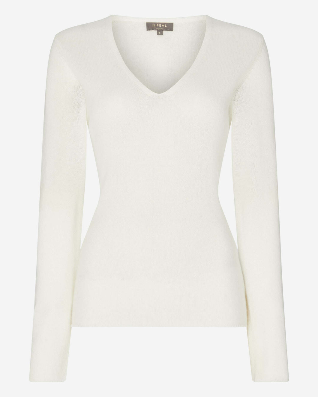 Gauzy V Neck Sweater New Ivory White