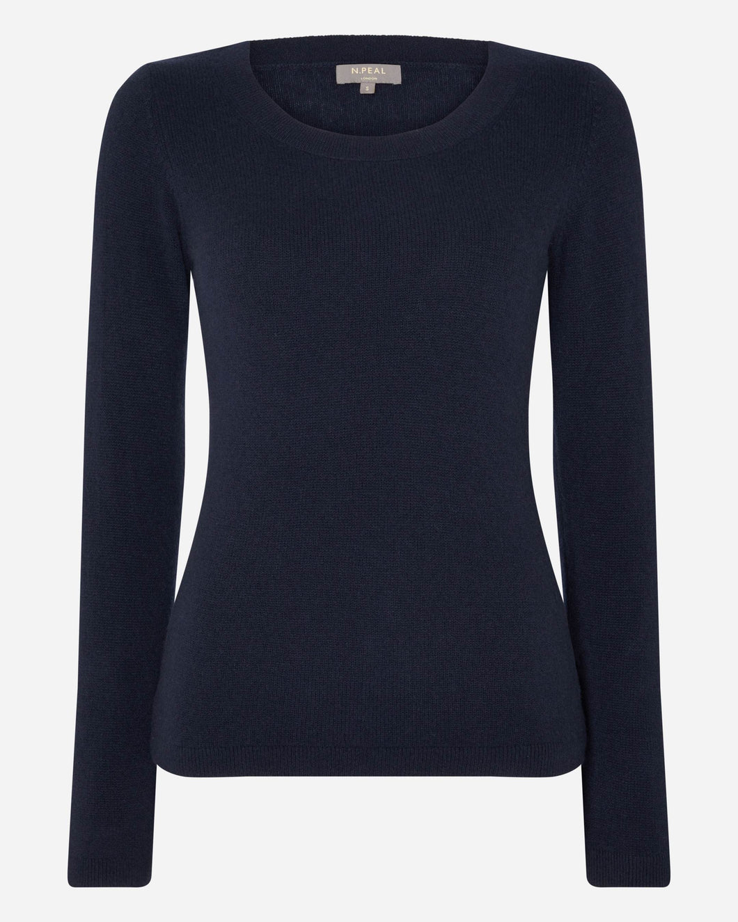 Gauzy Scoop Neck Sweater Navy Blue