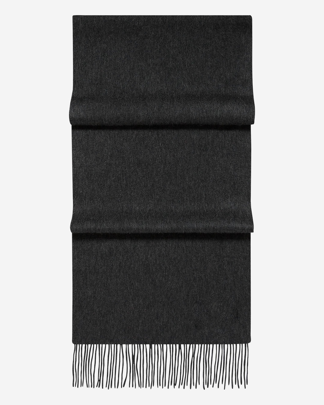 Woven Cashmere Scarf Dark Charcoal Grey