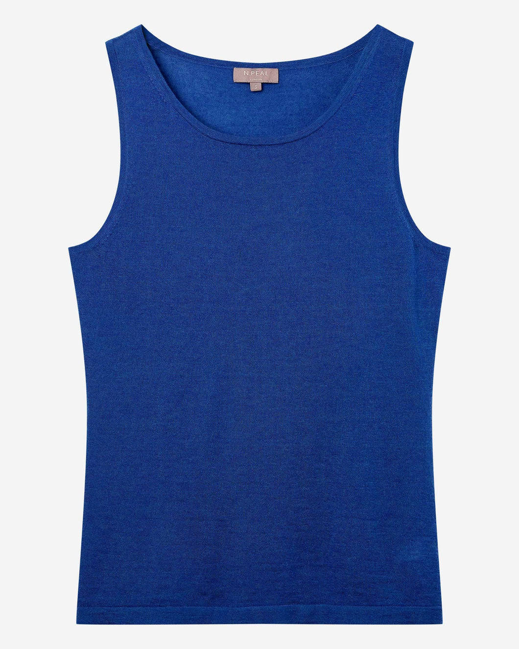 Superfine Cashmere Shell Top Midnight Blue