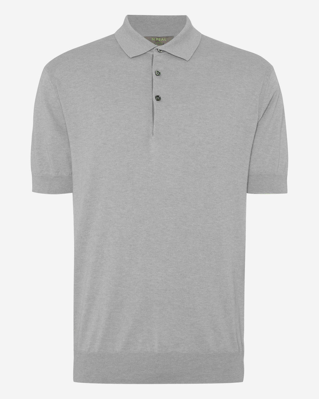 Short Sleeve Collared Polo T Shirt Fumo Grey