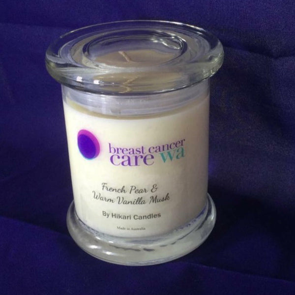 Breast Cancer Care WA Candle Fundraising Candles - Available in three popular fragrances - Hikari Candles