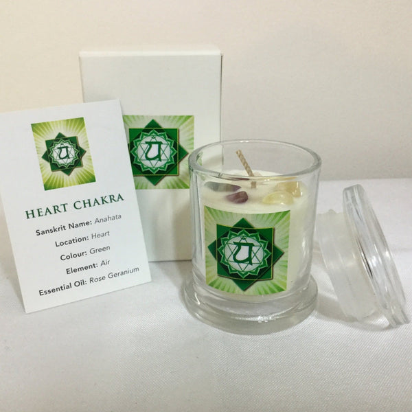 Heart Chakra Candle Australia Pure essential oil