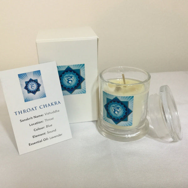 Throat Chakra Pure Essential oil candle australia