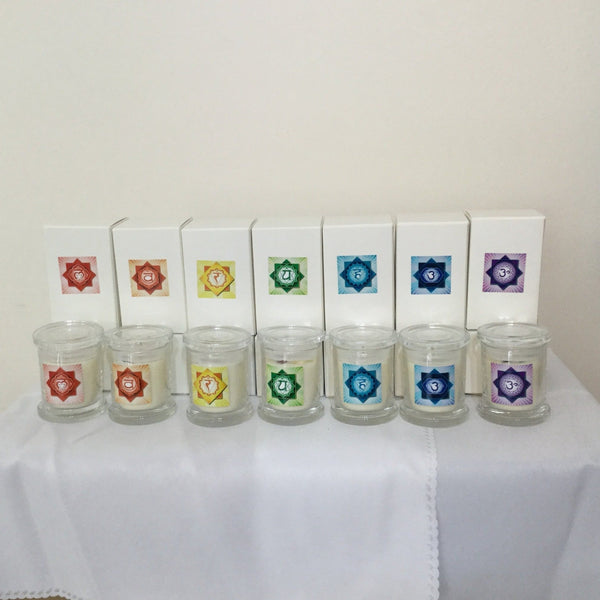 Chakra Crystal Candles Crystal Aromatherapy - Hikari Candles