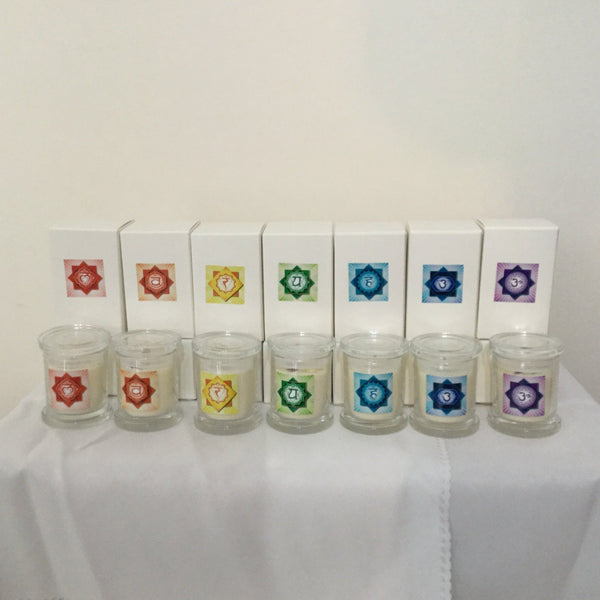 Chakra Candle Set Soy Unscented - Hikari Candles