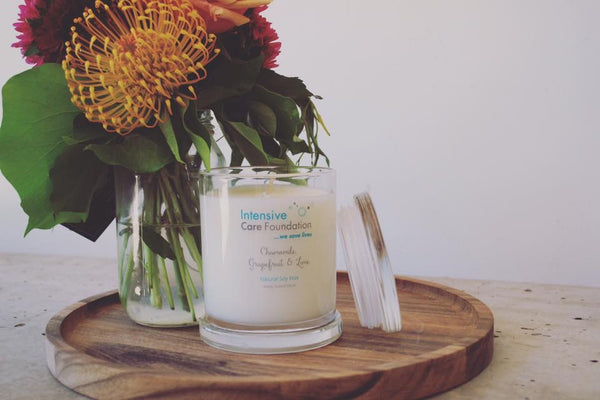 Intensive Care Candle Fundraising Chamomile Grapefruit & Lime - Hikari Candles