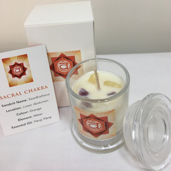 Sacral Chakra Candle Australia Pure Essential Oil Soy