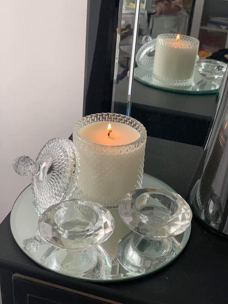 Luxury Soy Candle with Nectarine & Mint Fragrance - Hikari Candles
