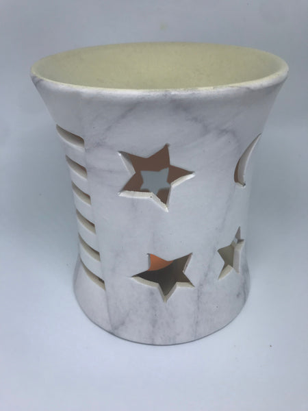 Oil Burner Large Moon and Stars - Hikari Candles