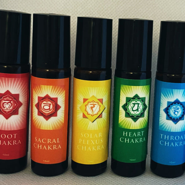Chakra Roll on Aromatherapy Oil Set special - Hikari Candles